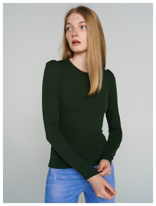 Купить Футболка с длин.рукавом ТВОЕ 71481 размер XL, темно-зеленый, WOMEN по низкой цене с доставкой из Яндекс.Маркета (бывший Беру)
