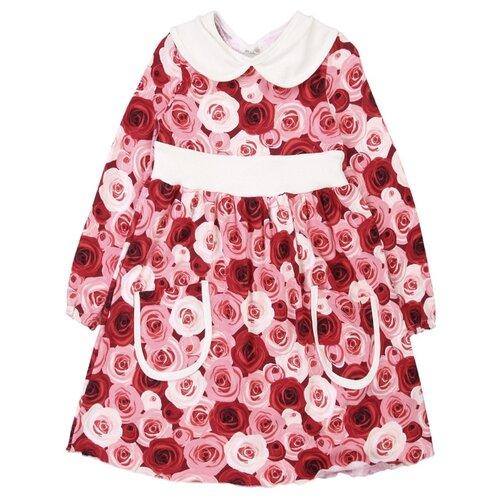 Платье Веста размер 104, красный