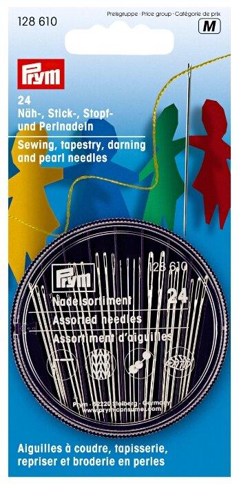 Набор игл ручных Prym 128610 швейных, для вышивания, для штопки и для бисера 24 шт.
