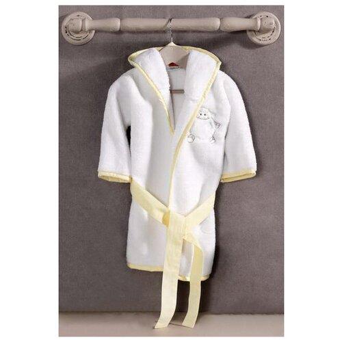 Халат Kidboo размер 3(98), белый/желтый