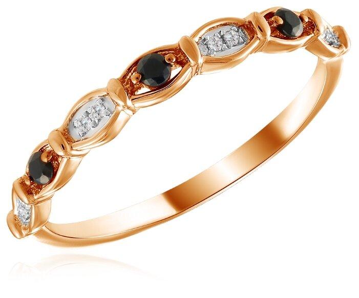 Бронницкий Ювелир Кольцо из красного золота R01-D-R312779SAP, размер 16.5