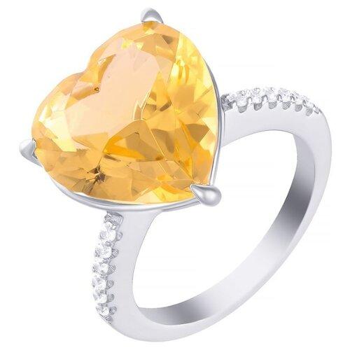 JV Кольцо с стеклом и фианитами из серебра SY-356175-R-KO-US-003-WG, размер 18 jv кольцо с фианитами из серебра sy 355491 r 003 wg размер 18 5