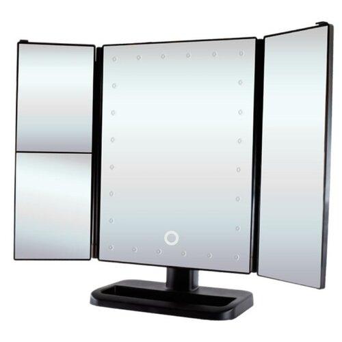 Зеркало косметическое настольное GESS uLike с подсветкой черныйЗеркала косметические<br>