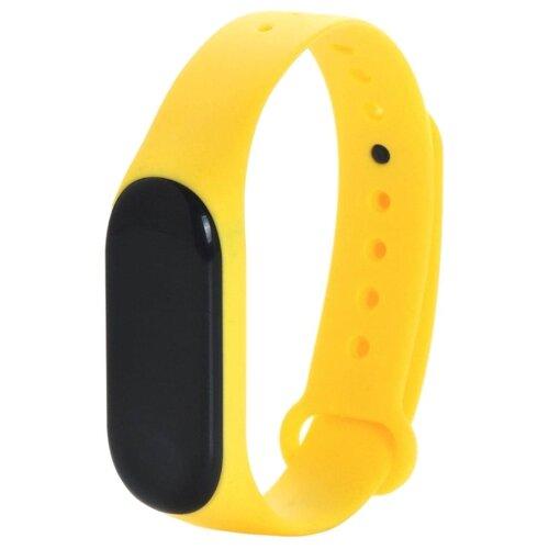 Gurdini Ремешок силиконовый для Xiaomi Mi Band 3 желтый