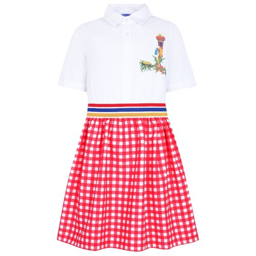 Платье Stella Jean размер 116, белый/красный