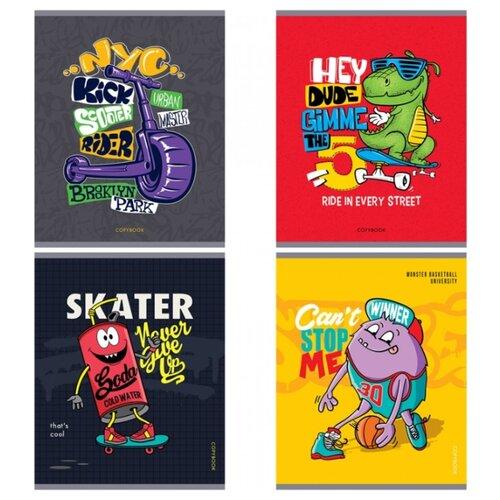 Купить ArtSpace Упаковка тетрадей Стиль. Bright prints, Т48к_29659, 10 шт./4 дизайна, клетка, 48 л., Тетради
