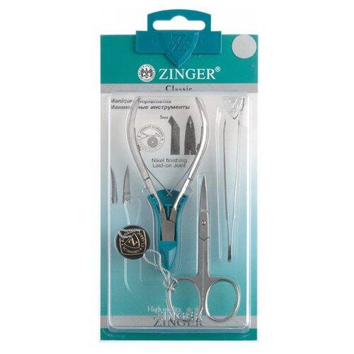 Набор ZINGER SIS-42, серебристый, 3 предмета аксессуар маникюрный набор zinger sis 60