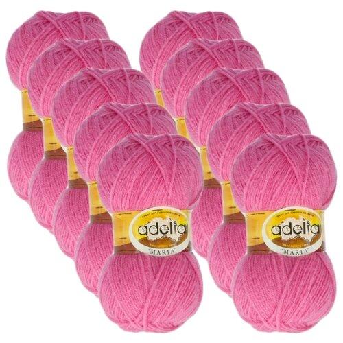 Купить Пряжа Adelia Maria, 100 % акрил, 50 г, 227 м, 10 шт., №22 т.розовый