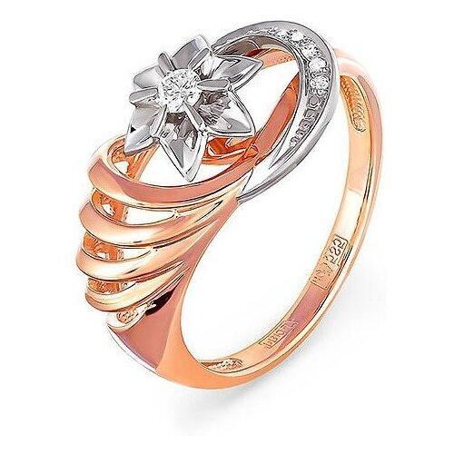 KABAROVSKY Кольцо с 1 бриллиантом из красного золота 1-0342-1000, размер 17 фото