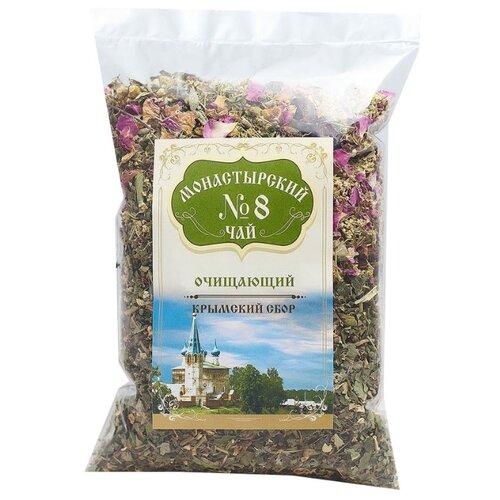 Фото - Чай травяной Крымский чай Монастырский № 8 Очищающий, 100 г чай травяной aroma монастырский 100 г