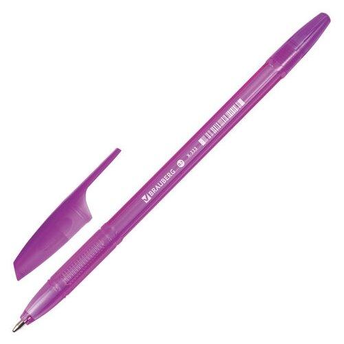 Купить BRAUBERG Ручка шариковая X-333, 0.7 мм, фиолетовый цвет чернил, Ручки