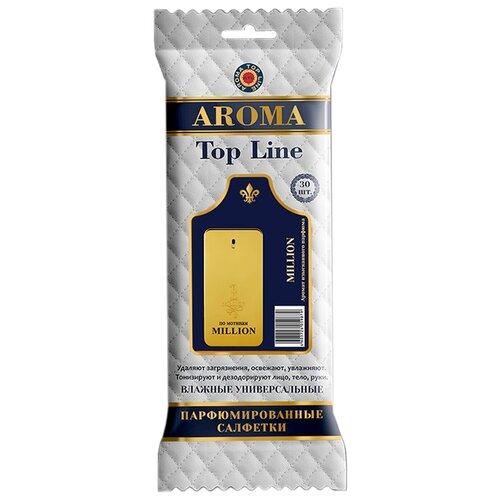 цена Влажные салфетки AROMA TOP LINE универсальные парфюмированные Paco Rabane 1 Million №21 30 шт. онлайн в 2017 году