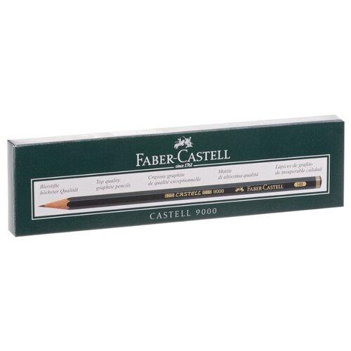 Фото - Faber-Castell Набор чернографитных карандашей Castell 9000 HB 12 шт. (119000) канцелярия faber castell грифели для механических карандашей polymer 0 7 мм hb 12 шт