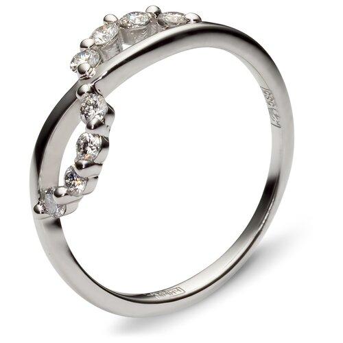 Эстет Кольцо с 8 бриллиантами из белого золота 01К623987, размер 18.5