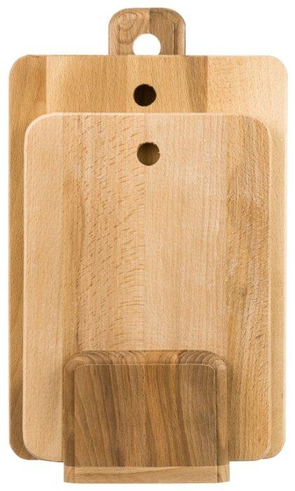 Купить Комплект из 2 досок 35х24,5х1,4 см и 30х21х1,4 см Elan Gallery прямоугольный на деревянной подставке по низкой цене с доставкой из Яндекс.Маркета