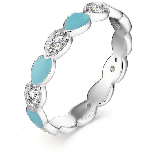 АЛЬКОР Кольцо с 14 фианитами из серебра 01-1305-ЭМ75-00, размер 18 алькор кольцо с 14 фианитами из серебра 01 1305 эм69 00 размер 18