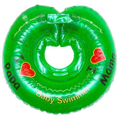 Круг на шею Baby Swimmer 3m+ (6-36 кг) Я люблю салатовый круг на шею baby swimmer 0m 3 12 кг голубой