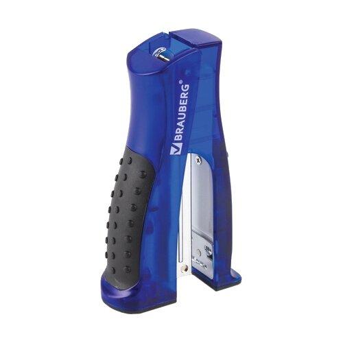 BRAUBERG Степлер Daten вертикальный черный/синий степлер stand up mini 10 синий