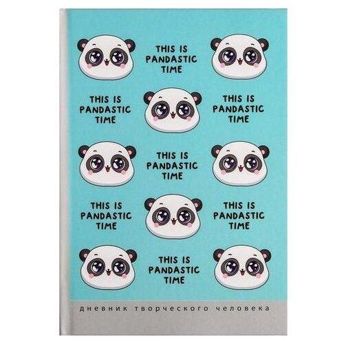 Купить Ежедневник ArtFox This is pandastic time 5031995 полудатированный, А5, 120 листов, голубой, Ежедневники, записные книжки