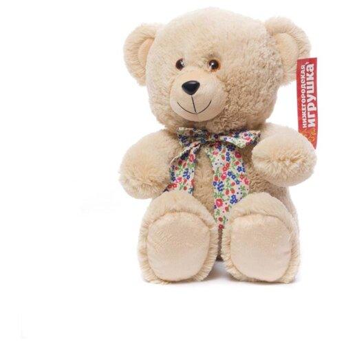Мягкая игрушка Нижегородская игрушка Медведь с бантом 38 см мягкая игрушка нижегородская игрушка зоопарк с бантиком медведь 40 см