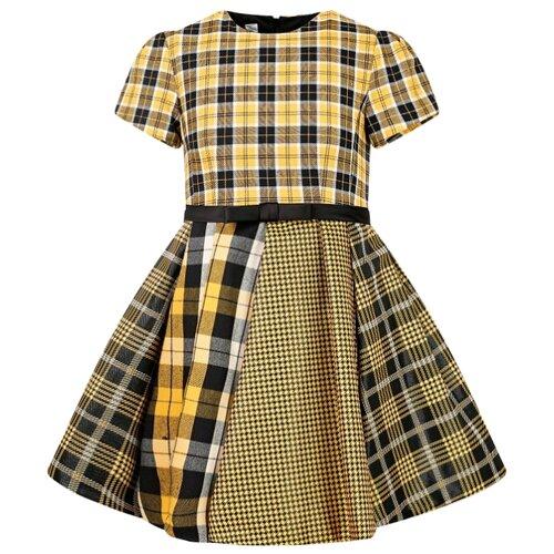 Платье ColoriChiari размер 110, клетка/желтый