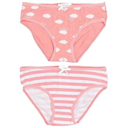 Купить Трусики Button Blue 2 шт., размер 128-134, розовый, Белье и купальники