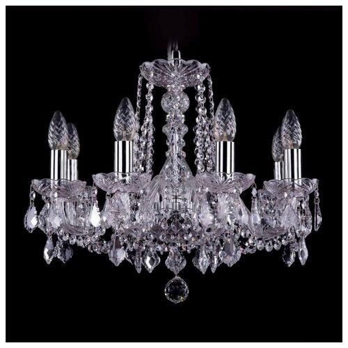 Люстра Bohemia Ivele Crystal 1402 1402/8/160/Ni/Leafs, E14, 320 Вт люстра bohemia ivele crystal 1402 1402 8 195 g m711 e14 320 вт