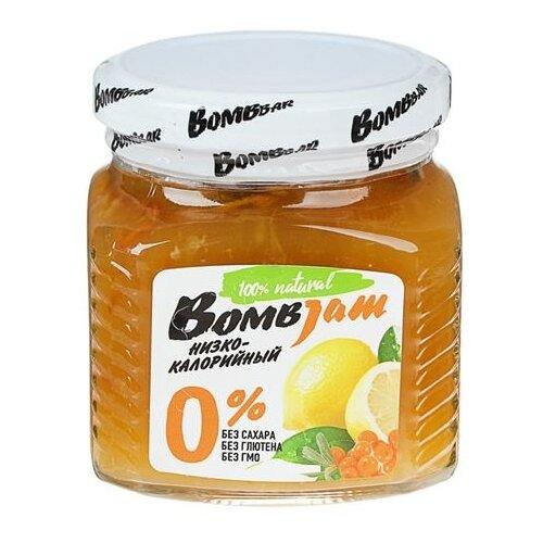 Джем низкокалорийный BombBar Облепиха-Лимон без сахара, банка 250 г