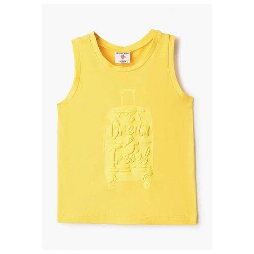 Купить Майка Button Blue размер 128, желтый, Футболки и майки