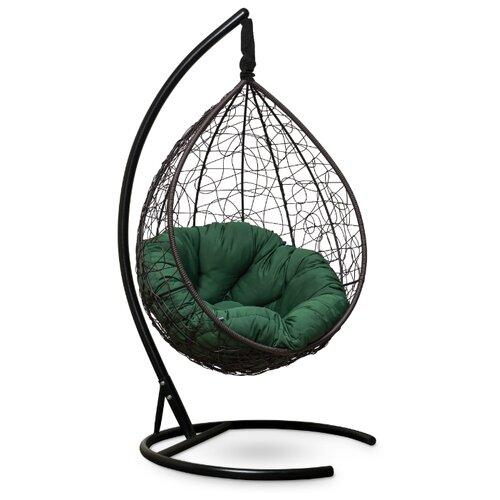 Подвесное кресло-кокон Laura Outdoor Sevilla Verde, коричневый/зеленый