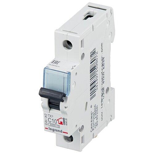 Автоматический выключатель Legrand TX3 1P (C) 6kA 10 А