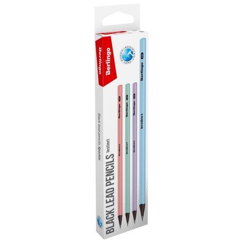 Купить Berlingo Набор чернографитных карандашей Instinct 12 шт (BP01196_12R), Карандаши