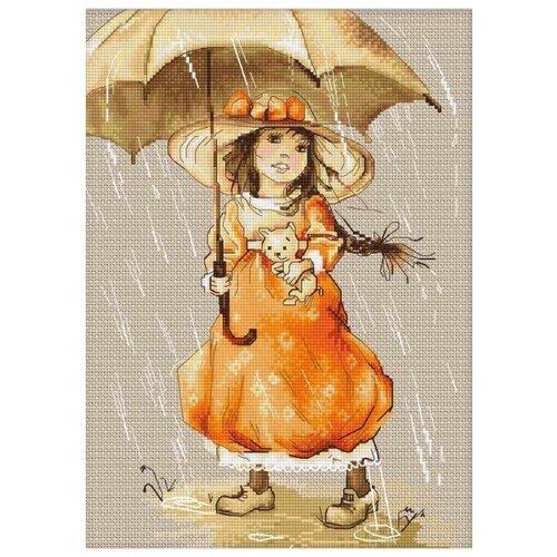 Купить Luca-S Набор для вышивания Зонтик, 20.5 х 28.5 см, B1065, Наборы для вышивания