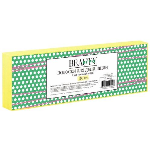 IGRObeauty полоски для депиляции желтые 100 шт. желтый