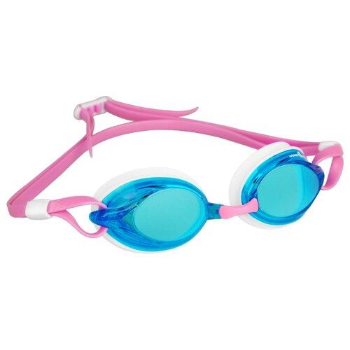 Очки для плавания MAD WAVE Spurt pink/azure/white очки для плавания mad wave aqua pink white