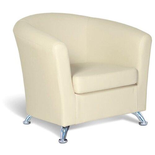 Классическое кресло Шарм-Дизайн Евро размер: 80х79 см, обивка: искусственная кожа, цвет: бежевый