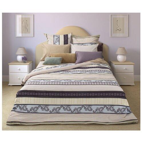 Постельное белье 2-спальное Sova & Javoronok Спокойный сон 50х70 см, сатин бежевый/голубой