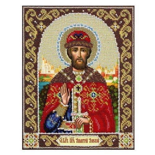 Купить Паутинка Набор для вышивания бисером Святой Благоверный князь Дмитрий Донской 20 x 25 см (Б1037), Наборы для вышивания