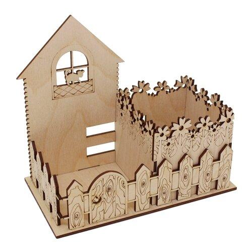 Купить Astra & Craft Деревянная заготовка для декорирования подставка под карандаши Кошкин двор L-672 береза, Декоративные элементы и материалы