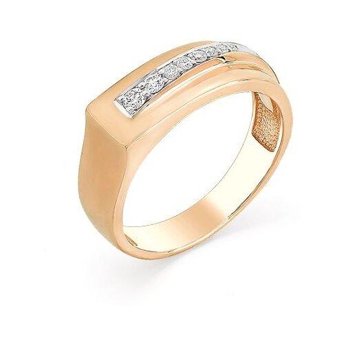 Мастер Бриллиант Кольцо с 8 бриллиантами из красного золота 1-107-102, размер 16