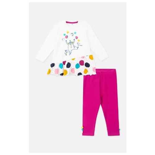 Купить Комплект одежды playToday размер 74, светло-серый/розовый, Комплекты