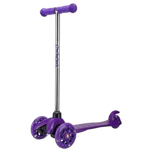 Кикборд Moby Kids со светящимися колесами фиолетовый кикборд moby kids junior light