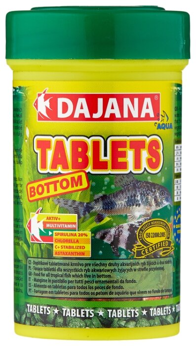 Сухой корм Dajana Pet Tablets Bottom для рыб