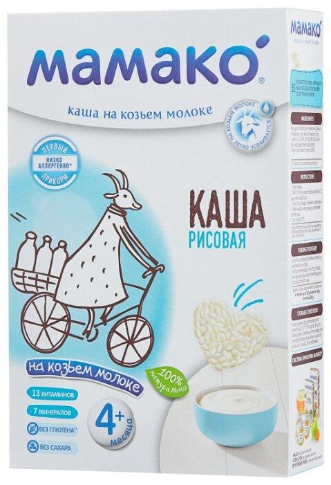 Каша МАМАКО молочная рисовая на козьем молоке (с 4 месяцев) 200 г