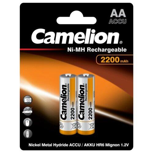 Аккумулятор Ni-Mh 2200 мА·ч Camelion NH-AA2200 2 шт блистер аккумулятор aa camelion 1 2v 2300mah ni mh bl 2 nh aa2300bp2 2 штуки 5221