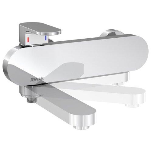 Смеситель для ванны с подключением душа RAVAK Chrome CR 022.00/150 однорычажный смеситель на борт ванны ravak chrome cr 025 00 на 4 отверстия каскадный x070073