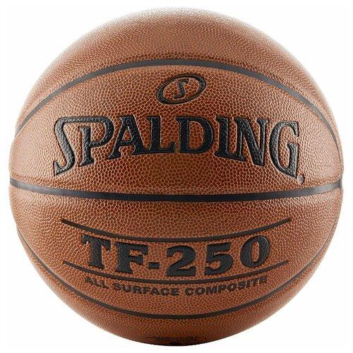 Баскетбольный мяч Spalding TF-250 All Surface, р. 5 коричневый/черный