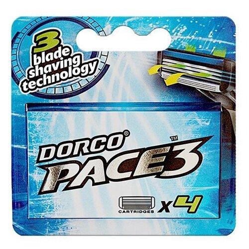 Купить Сменные кассеты Dorco Pace 3, 4 шт.