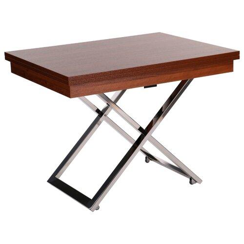 Стол кухонный Levmar Cross MW, раскладной, ДхШ: 101 х 80 см, длина в разложенном виде: 202 см, миланский орех