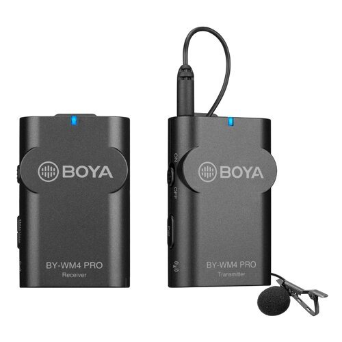 Двухканальная УКВ беспроводная микрофонная система Boya BY-WM4 PRO